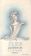 Carte Parfum - ILKA De L.T. PIVER - Paris - REMY Parfumerie Des Artistes à LIEGE - Perfume Cards