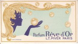 Carte Parfum -  REVE D´OR De L.T. PIVER - Paris - Perfume Cards