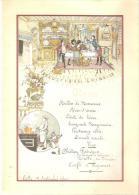 MENU AIR FRANCE PARIS NEW YORK ANNEES 80 DANS REPRODUCTION MENUS ANCIEN BIBLIOTHEQUE FORNEY - Menus