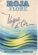 Carte Parfum - VAGUE D´OR De ROJA FLORE - Parfum - Brillantine - Perfume Cards