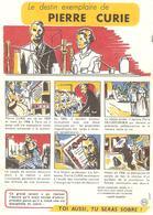 BUVARD SANTE COMITE ETUDE ALCOOLISME SOBRIETE PIERRE CURIE - Buvards, Protège-cahiers Illustrés