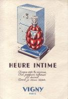 Carte Parfum - HEURE INTIME De VIGNY - Perfume Cards