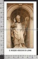 Xsa-11637 S. San NICEZIO VESCOVO DI LIONE NIZIER LYON Santino Holy Card - Religione & Esoterismo