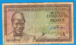 GUINEA - 50 Francs  1960  P-12 - Guinea