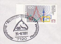 1981 BIETINGHEIM HORSE MARKET EVENT Pmk COVER Stamps Horses - Horses