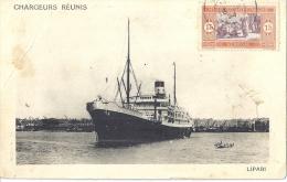 BATEAU-CHARGEURS REUNIS - Port De LIPARI - CARTE ANIMEE-   Timbre Du SENEGAL - Altri