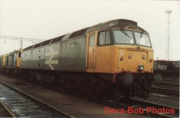 Railway Photo BR Class 47 47358 Bescot TMD 1988 47/3 Loco Shed MPD - Trains