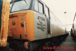 Railway Photos BR Class 47 47588 BESCOT TMD 1988 Carlisle Currock 47/4 Loco - Trains
