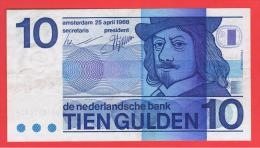 HOLANDA - Netherlands - Pays-Bas = 10  Gulden 1968  P-91 - [2] 1815-… : Koninkrijk Der Verenigde Nederlanden