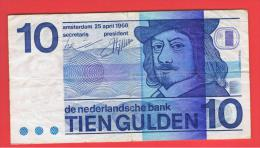 HOLANDA - Netherlands - Pays-Bas = 10  Gulden 1968  P-91 - 1  Florín Holandés (gulden)