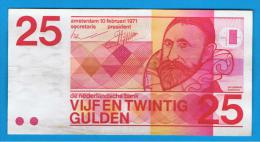 HOLANDA - Netherlands - Pays-Bas =  25  Gulden 1971  P-92 - 1  Florín Holandés (gulden)