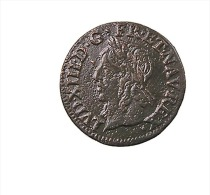 France -  LOUIS XIII - Double Tournois - 1643 A   -  TB+ - 476-1789 Monnaies Seigneuriales