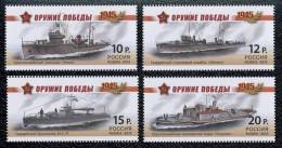 Russia, 2013, Military Ships Of The Victory, Navy, 4 Stamps - Nuevos