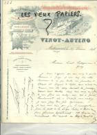 88 - Vosges - MATTAINCOURT - Facture VINOT-AUTING - Chaux - Vinette - 1898 - 1800 – 1899