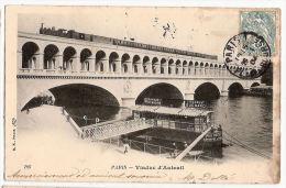 CPA Paris  Viaduc D'Auteuil Train  Chocolat Suchard St Raphael 75 - Ponts