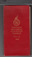 Bartholomew's - Cyclist's Road Map Of Glasgow District - Cartes Routières