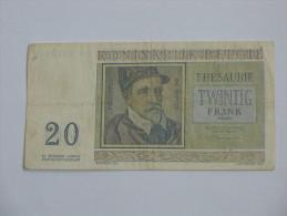 20 Francs 1956 - Royaume De Belgique - Koninkrijk Belgie. - [ 2] 1831-... : Royaume De Belgique