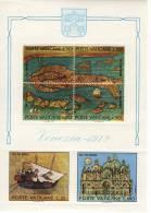 SCV55) VATICANO 1972 - VENEZIA- FOGLIETTO N°3 - Blocchi E Foglietti