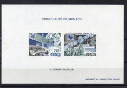 BLOC FEUILLET SPECIAL MONACO SUR PAPIER GOMME N°14 A NEUF**  Cote 270 Euros - Space
