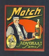 Etiquette De Liqueur: Advokaat Match (9 X 10 Cms) (Ref.65639) - Labels