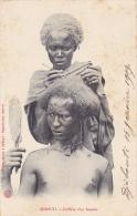 DJ13  --  DJIBOUTI  - COIFFURE D `UN SOMALIS  - 1907 - GIRLS -  STEMPEL DE NAVIGATION A VAPEUR  --  S/s VILLE DE MAJUNGA - Dschibuti
