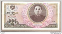 Corea Del Nord - Banconota Non Circolata Da 100 Won - 1978 - Corea Del Nord