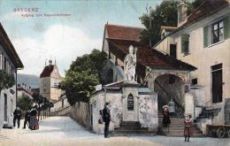 1908, BREGENZ, Aufgang Zum Kapuzinerkloster, Gel. 1908, Bayrische Frankierung, Sehr Gute Erhaltung - Bregenz