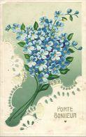 N°32561 -cpa  Gaufrée - Porte Bonheur- - Fantaisies