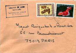 1980  Lettre De Mata-Utu Pour La France  Coquillage YV 263,  Artisanat Yv 212 - Wallis And Futuna