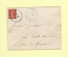 Pontarlier - Prisonnier De Guerre (en Bleu) - 19-12-1915 - Type Semeuse - Marcofilie (Brieven)