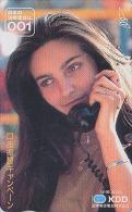 Télécarte Japon  - Femme Pub Téléphone KDD 001 - Nice Girl Japan Phonecard - Frau Telefonkarte - 10 - Telefoni