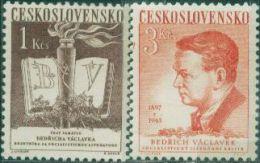 JK0112 Czechoslovakia 1953 Literary Critic 2v MNH - Nuovi