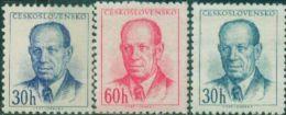 JK0124 Czechoslovakia 1953 President Thabo Tuo Siji 3v MNH - Nuovi