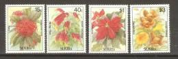 Saint Kitts 1988 Flower Set 4 MNH - St.Kitts And Nevis ( 1983-...)