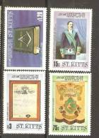 Saint Kitts 1985 Masonic Lodge Set 4 MNH - St.Kitts And Nevis ( 1983-...)