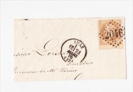 10c Sur Fragment - 1863-1870 Napoléon III Lauré