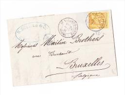 Lesage 25c Pour La Belgique Sur Lettre - 1876-1898 Sage (Type II)