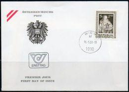 Autriche 1980 1471 FDC - Congrès De L'Ordre Des Bénédictions D'Autriche - Saint Benoît De Nursie - Patron De L'Europe - FDC