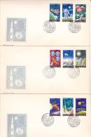ASTRONOMY, MISSION APOLLO (GRISSOM,CHAFFEE,WHITE),1972,COVER FDC,ROMANIA - Astronomy