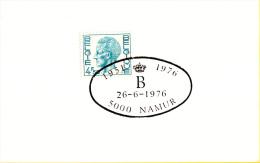 Namur - Koning Boudewijn 1951 - 1976 - 26 Juni 1976 - Matasellos De Cortesía