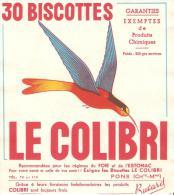 BUVARD BISCOTTES COLIBRI PONS CHARENTE MARITIME - Biscottes