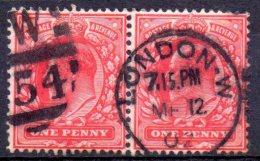 "Grande Bretagne ; Great Britain , 1902 ; N° Y: 107 X2 ; ; Ob.; Cachet; "" Eward VII "" Cote Y : 2.00 E. - Oblitérés"