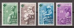 Suriname 420-423 MNH; Groene Kruis Zegels, Green Cross, Croix Vert, Cruz Verde 1966 - Surinam ... - 1975