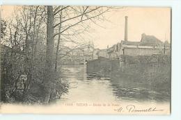Reims : Bords De La Vesle. Usine. Dos Simple. 2 Scans. - Reims