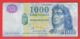 HUNGRIA - HUNGARY -  1000 Forint 2003  P-180 - Hungría