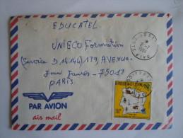 Ivoorkust Côte D'Ivoire Lettre Brief Cover 1984 Pour La France Journée De Télécommunications Yv 686 - Ivoorkust (1960-...)