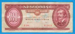 HUNGRIA - HUNGARY -  100 Forint  1989  P-171 - Hungría