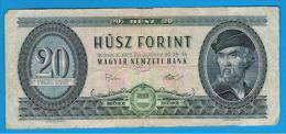 HUNGRIA - HUNGARY -  20 Forint  1975   P-169 - Hungría
