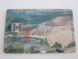 Ghana Chip Phonecard,Hydro Electric Dam,used - Ghana