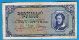 HUNGRIA - HUNGARY - 1.000.000 Pengo 1945  P-122  Serie N076 - Hungría